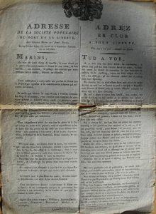 adresse revolutionnaire 1793