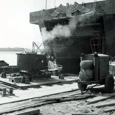 Construction de la base U-Boot de Lorient